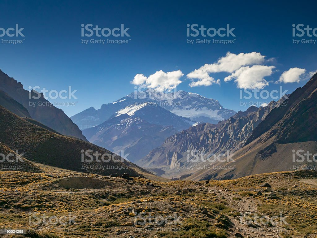 Aconcagua in the Evenging royalty-free stock photo