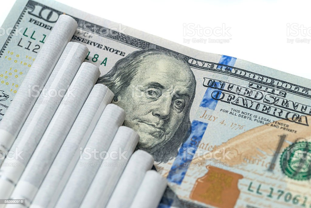 aconcept of smoking costs stock photo