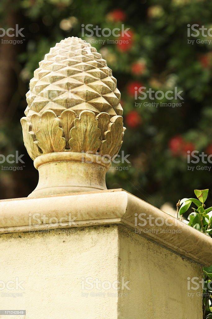 Acorn Finial Architectural Column Decor stock photo