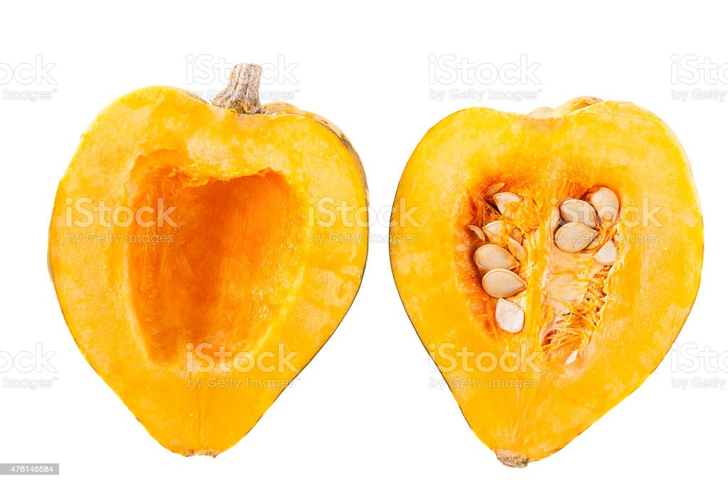 Acorn Squash Halves stock photo