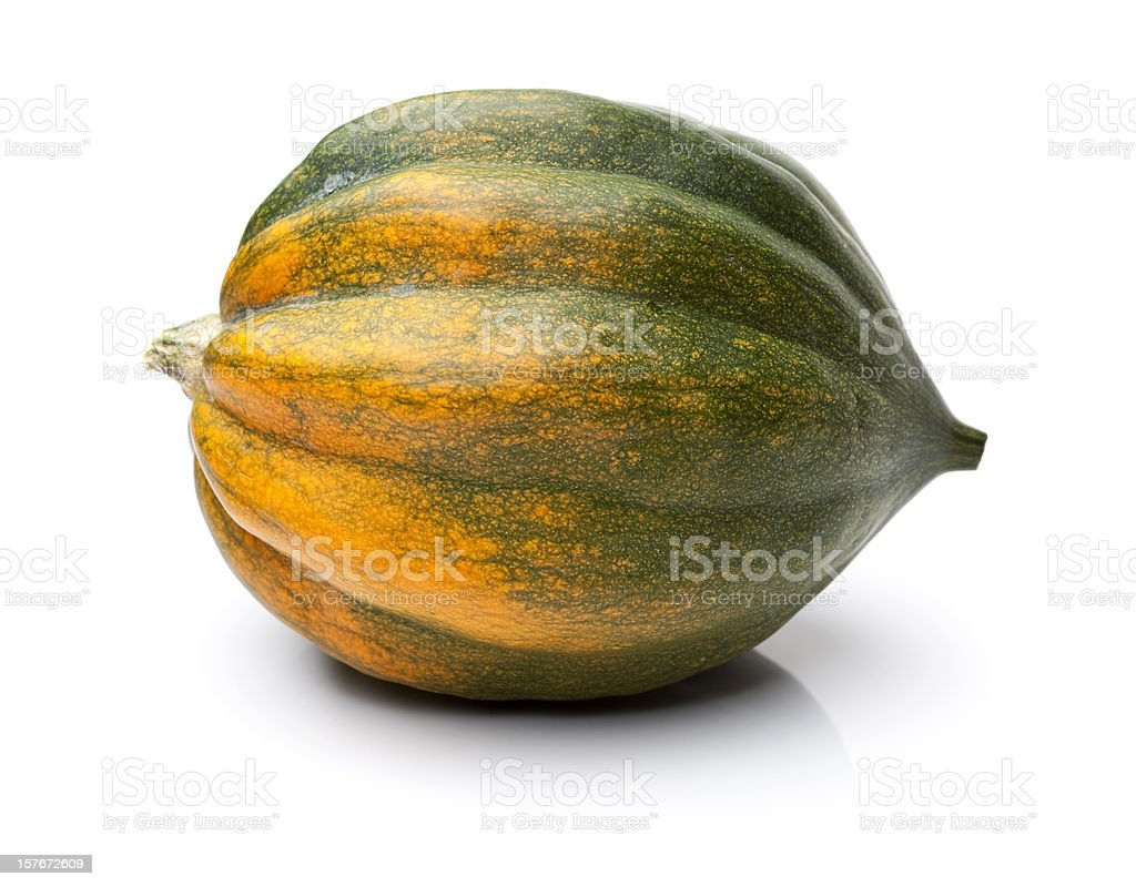 Acorn Squash Isolated on White royalty-free stock photo
