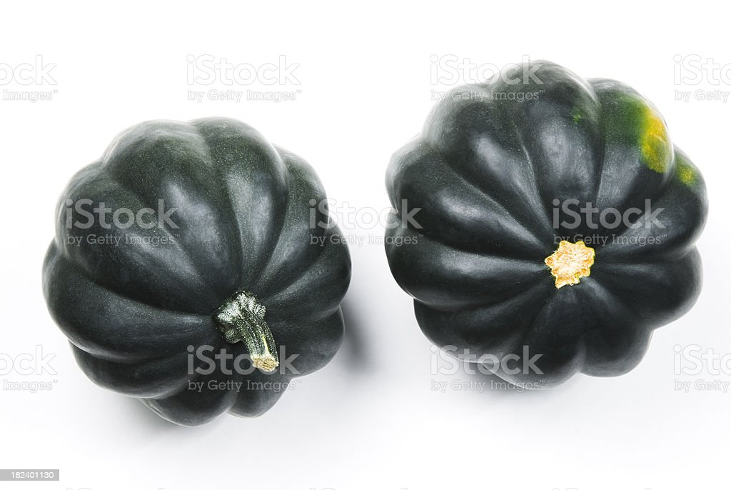 Acorn (Winter) squash, isolated on white stock photo