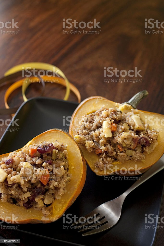 Acorn Squash Meal stock photo