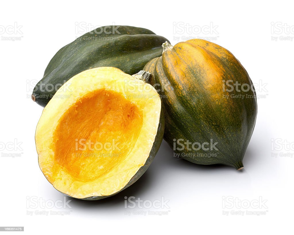 Acorn Squashes Isolated on White stock photo