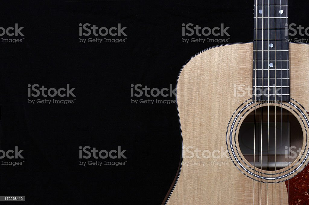 Acousitc Guitar Close Up royalty-free stock photo