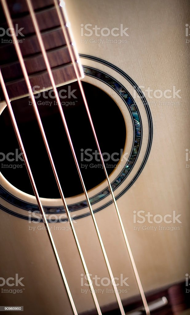 Acoustic Bass Guitar royalty-free stock photo