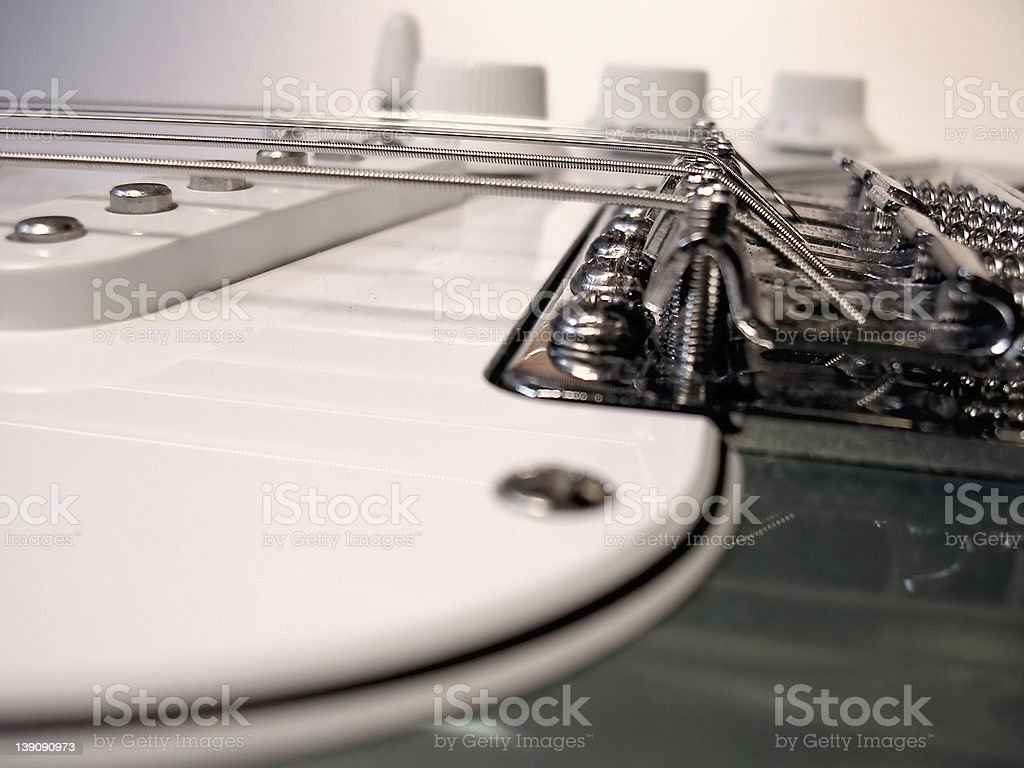 Acoustic - Electric 6 String stock photo