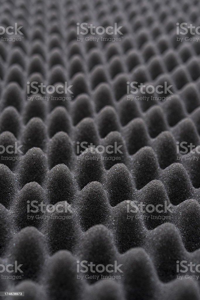 Acoustic foam wall stock photo