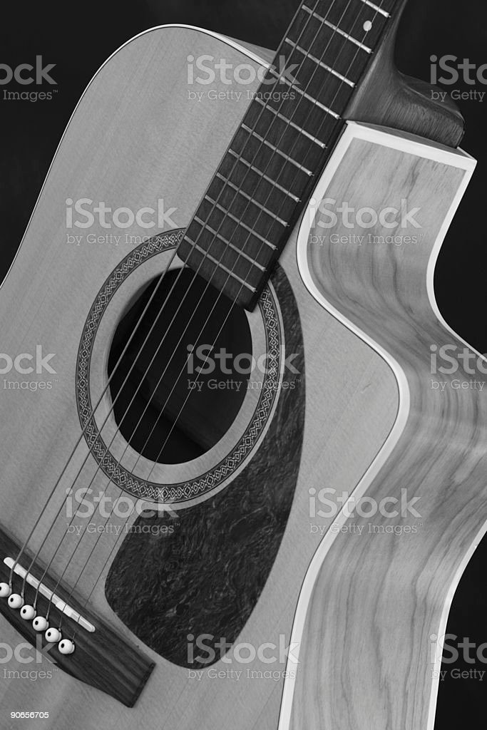 Acoustic Guitar 1a royalty-free stock photo