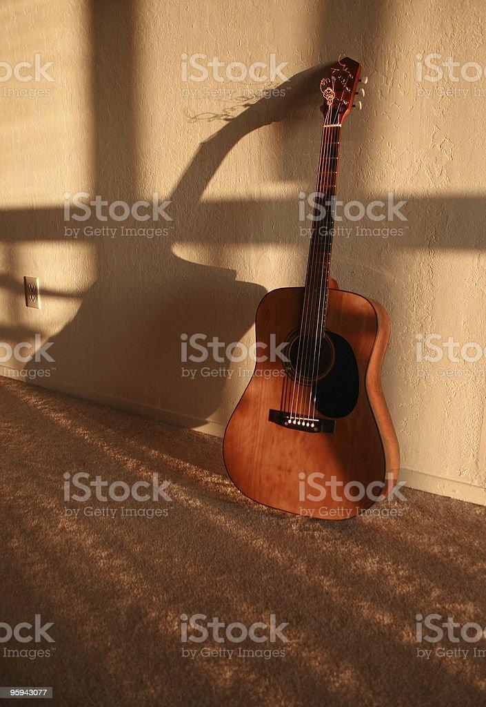Acoustic Guitar a.k.a Hidden Musical Talent stock photo