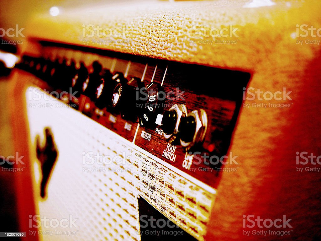 Acoustic Guitar Amp stock photo
