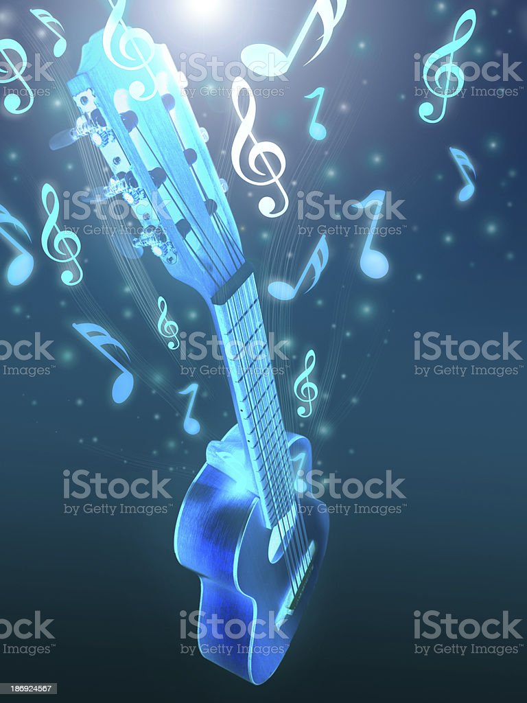 Acoustic guitar and music. royalty-free stock photo