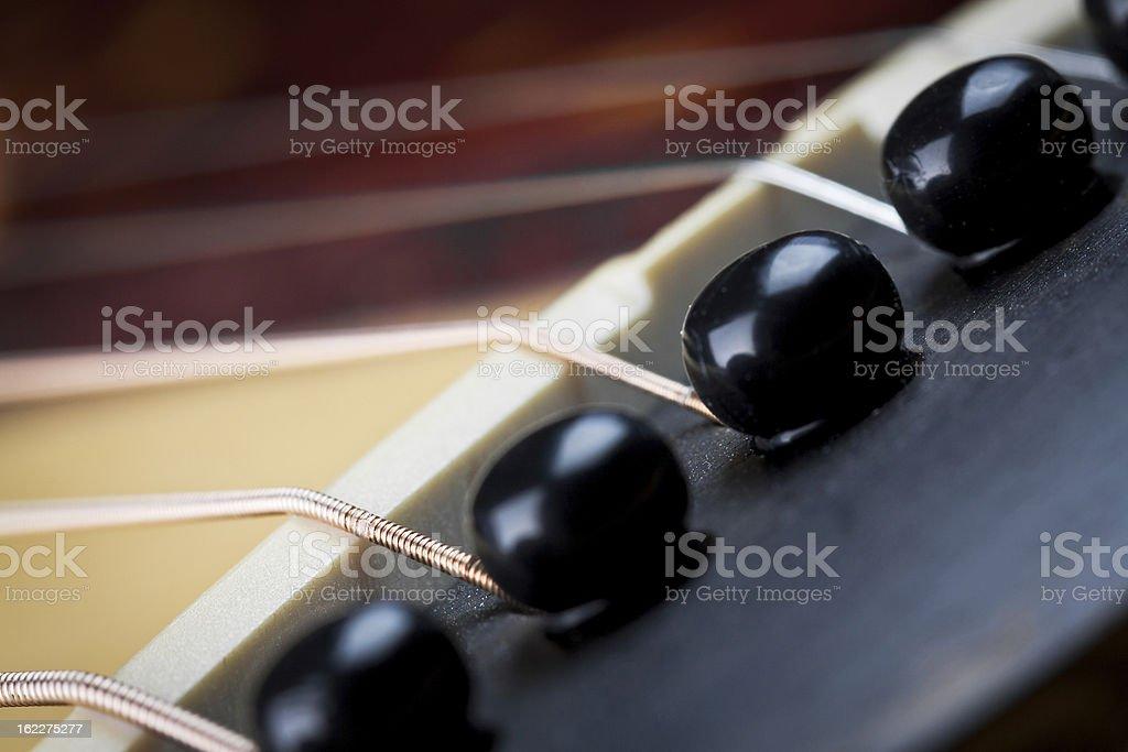 Acoustic Guitar Bridge royalty-free stock photo