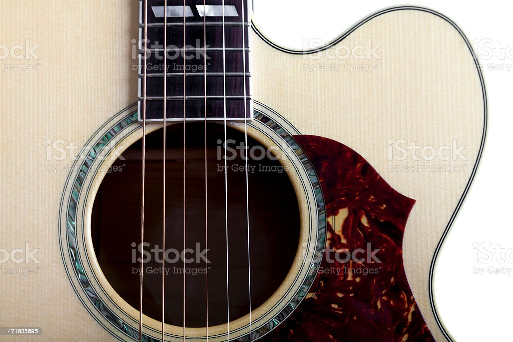 Acoustic Guitar Close Up XII stock photo