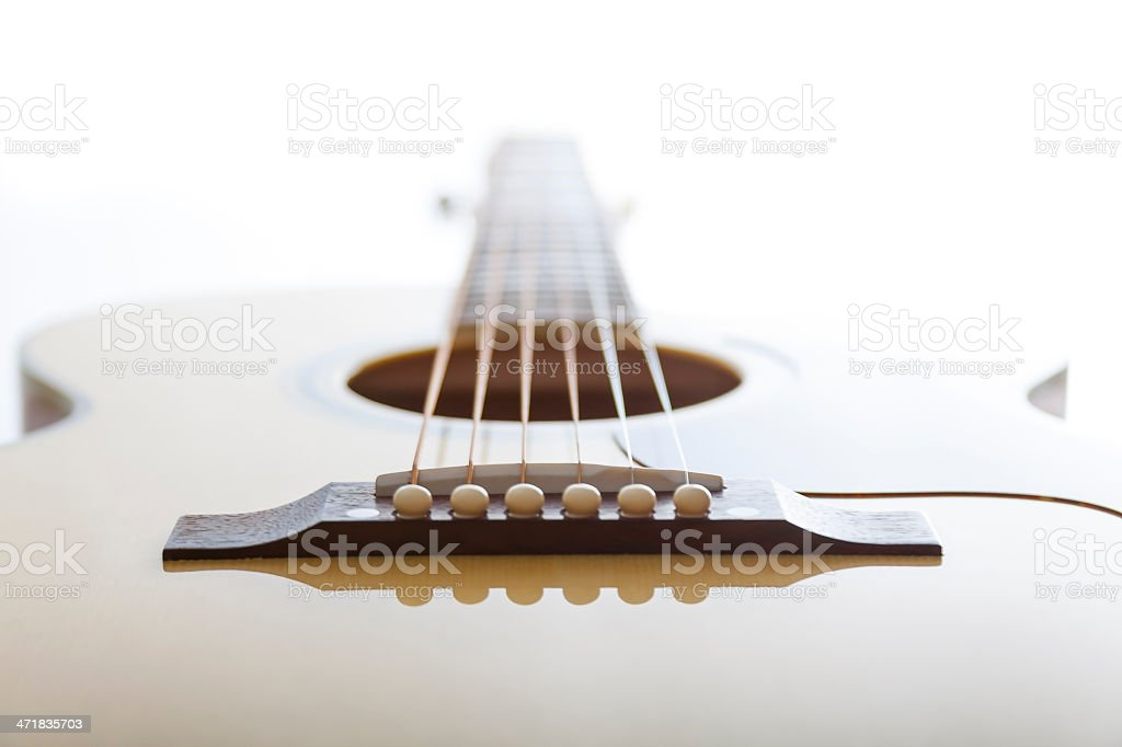 Acoustic Guitar Close Up XIV stock photo