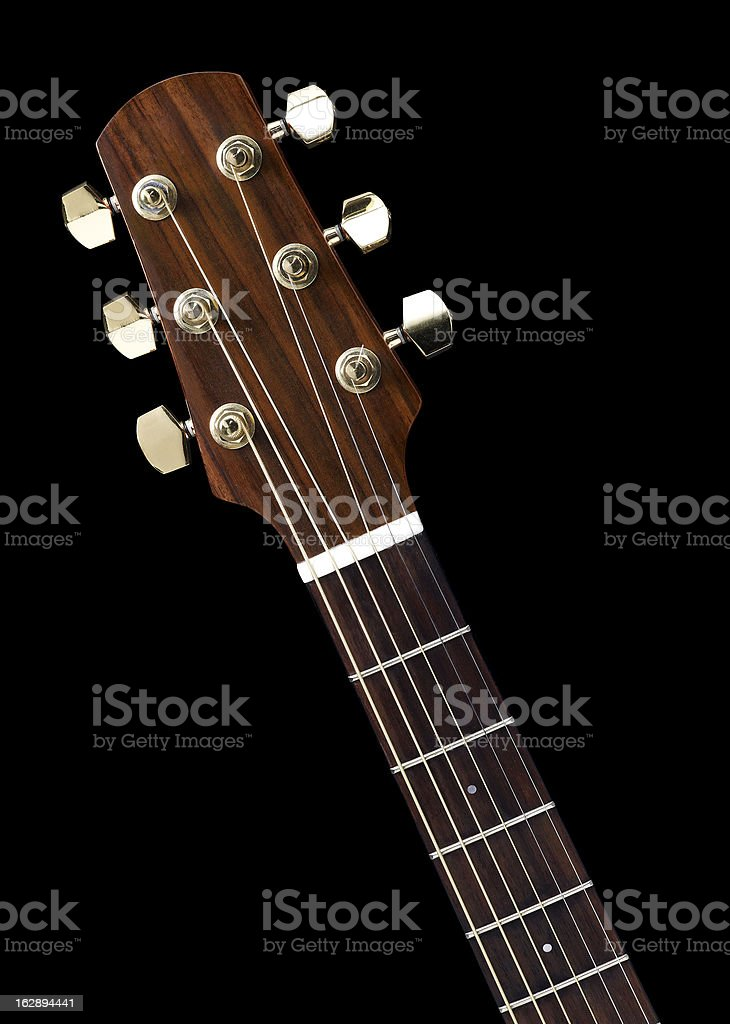 Acoustic Guitar detail stock photo