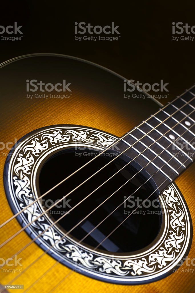 Acoustic Guitar detail royalty-free stock photo