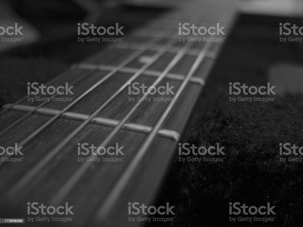 acoustic guitar Fretboard stock photo