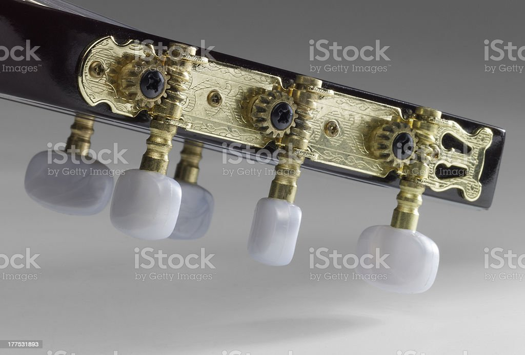 acoustic guitar headstock stock photo