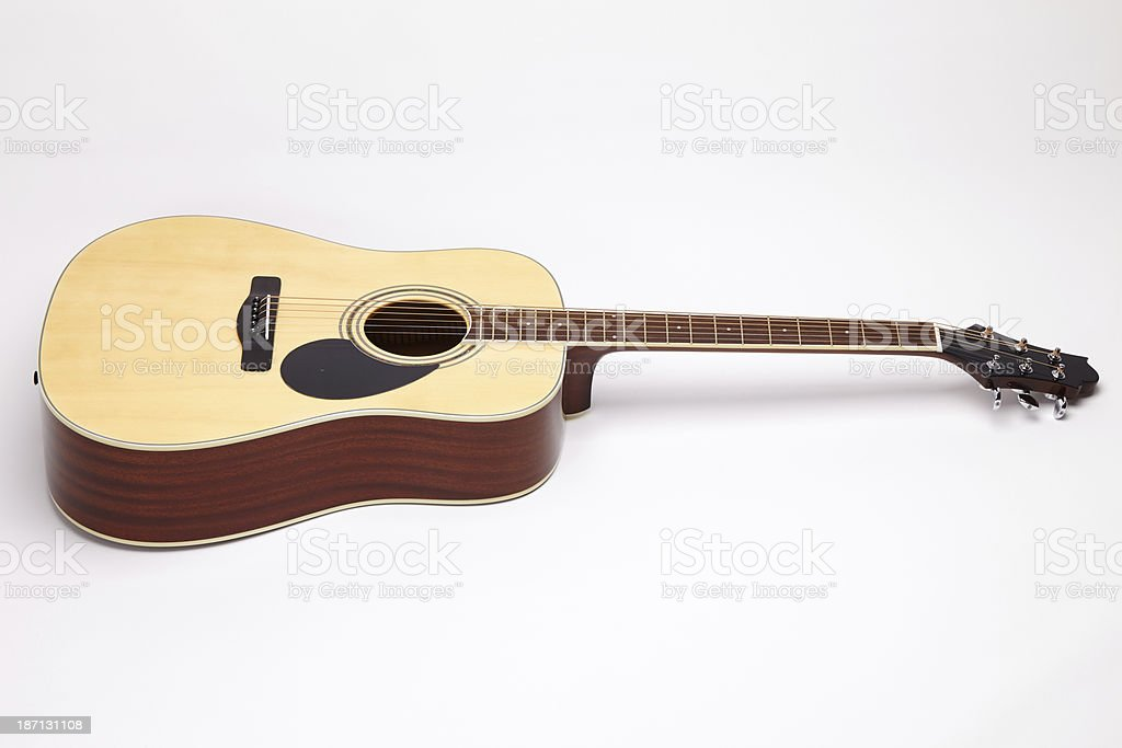 acoustic guitar isolated on white royalty-free stock photo