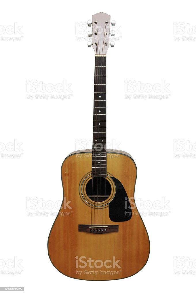 Acoustic Guitar Isolated royalty-free stock photo