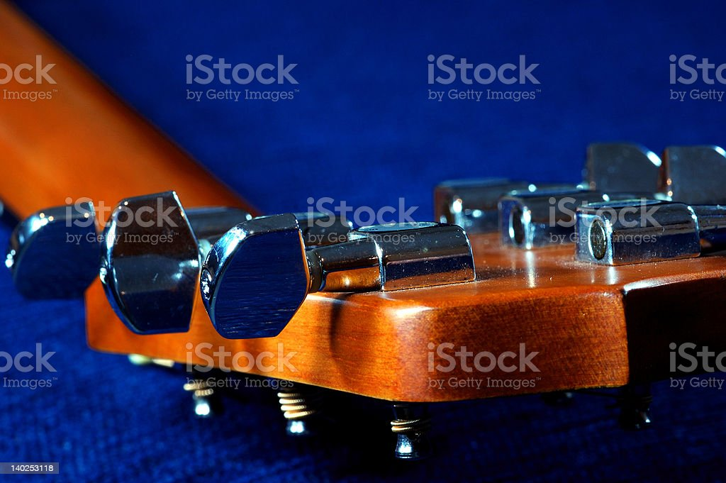 acoustic guitar machine heads stock photo