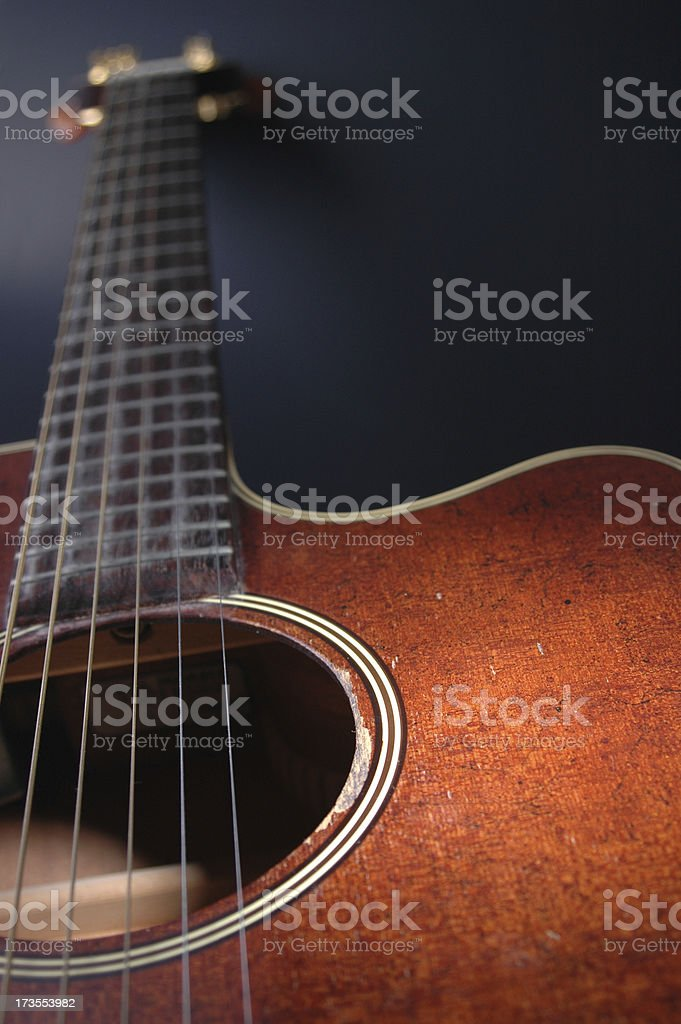 Acoustic Guitar One royalty-free stock photo