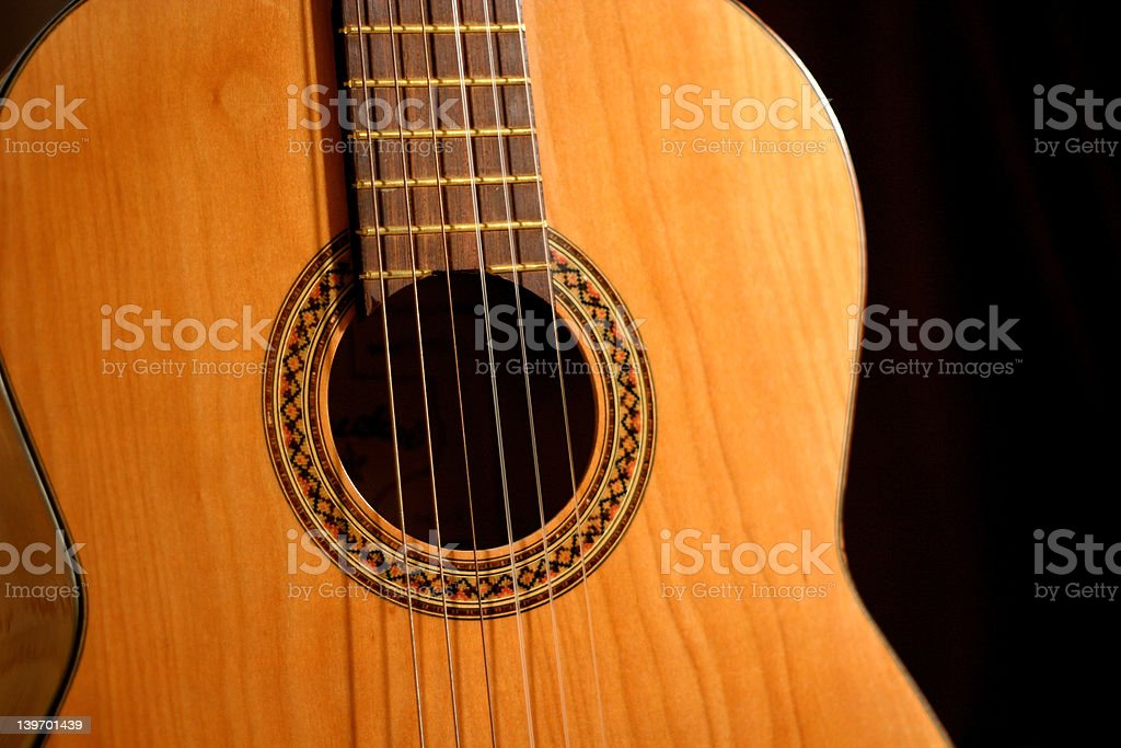 Acoustic Guitar (2) stock photo