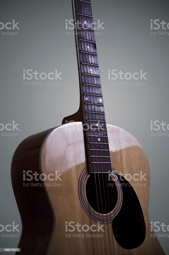 Guitarra acústica foto de stock libre de derechos