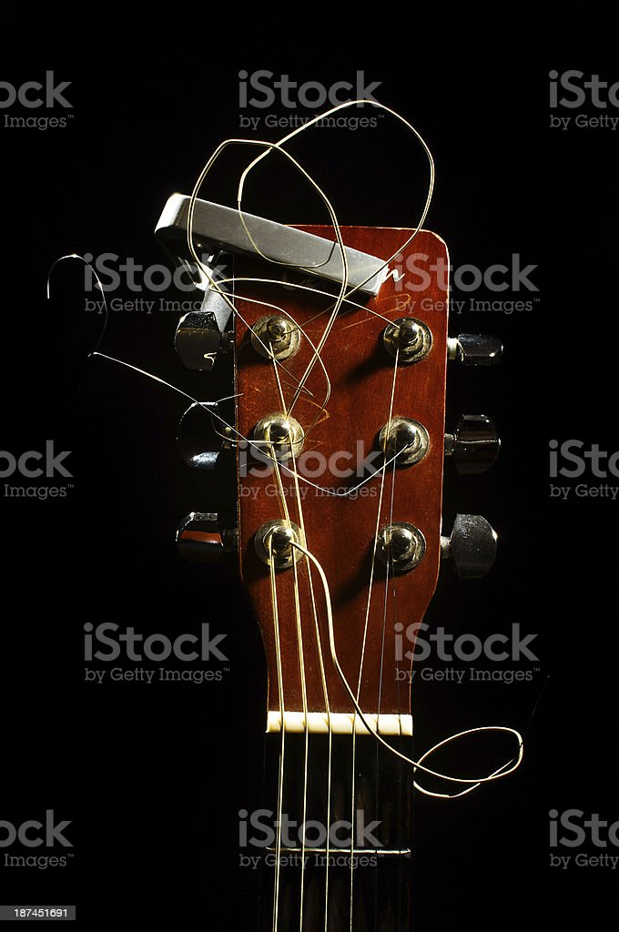 Acoustic guitar royalty-free stock photo
