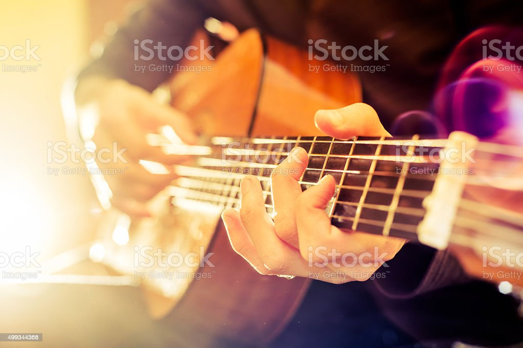 acoustic guitar stock photo