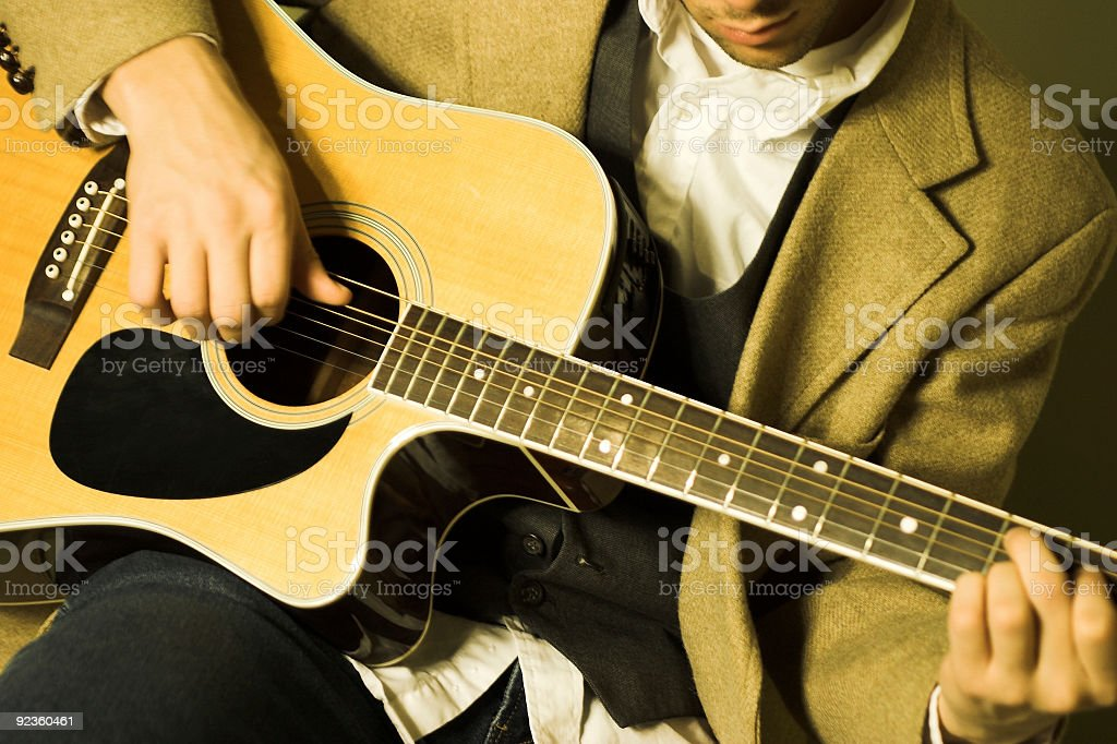 Acoustic Guitar Player royalty-free stock photo