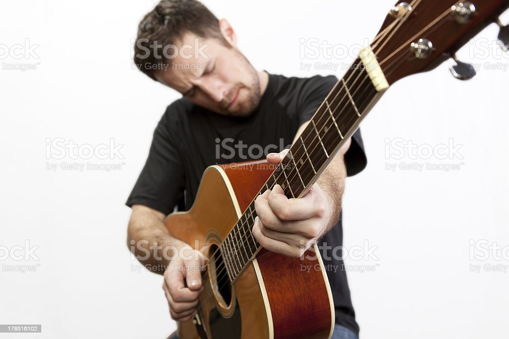 Acoustic Guitarist royalty-free stock photo