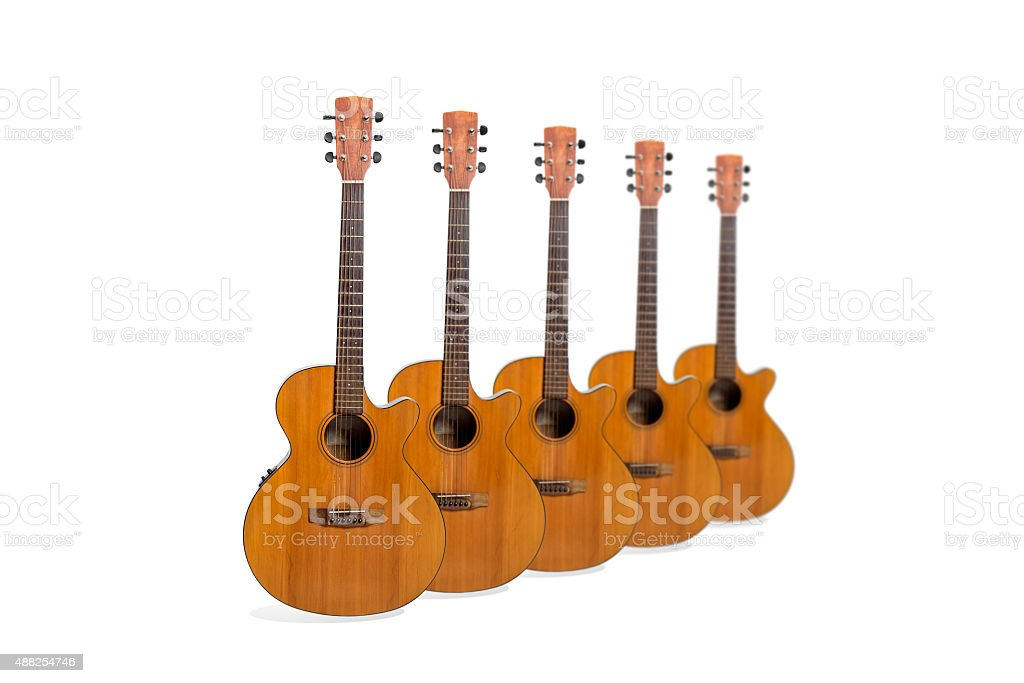 Acoustic Guitars royalty-free stock photo