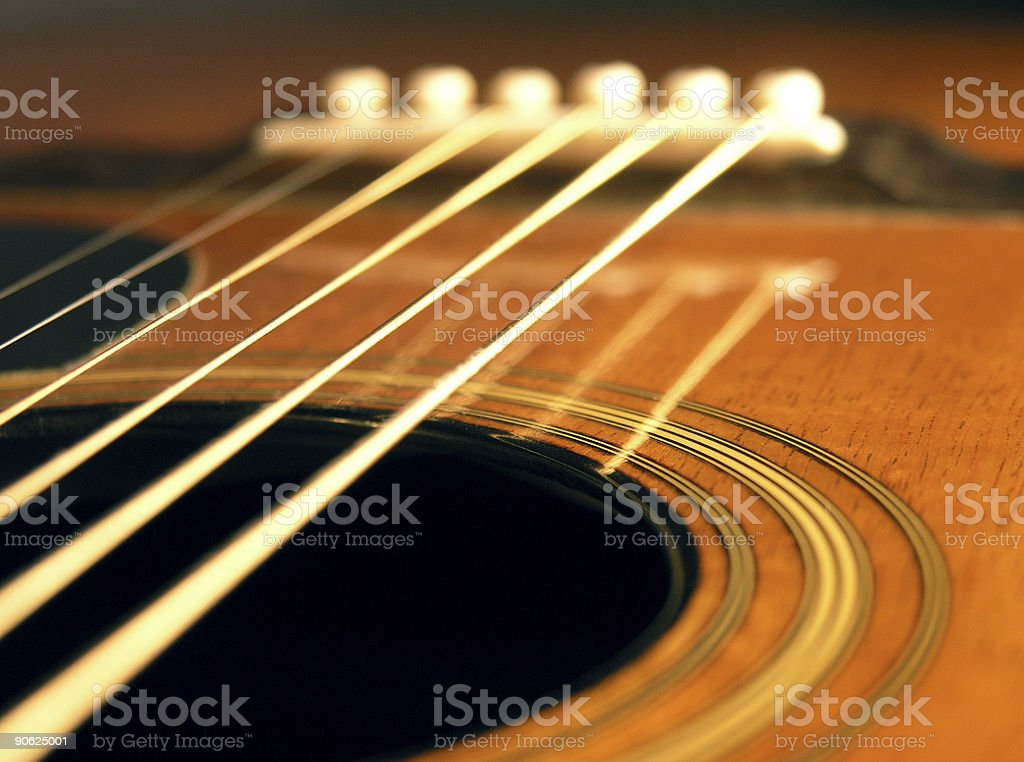 Acoustic Six String royalty-free stock photo