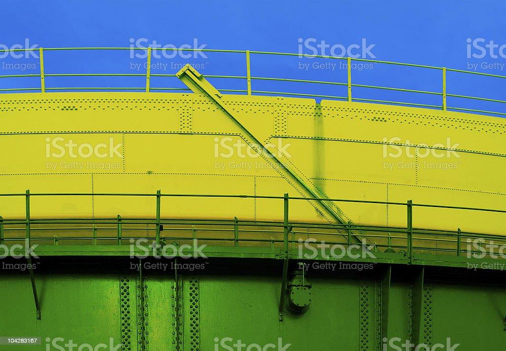 Acqua colours in steel structure  background stock photo