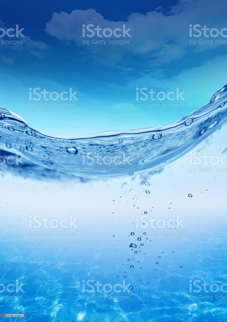 acqua e goccie stock photo