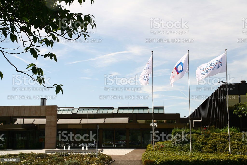 Acquisition of Wincor Nixdorf AG by the US company Diebold stock photo