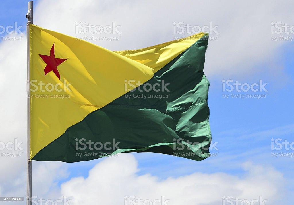 Acre State flag - Brazil stock photo