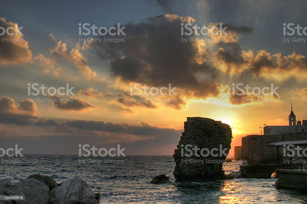 Acre sunset stock photo