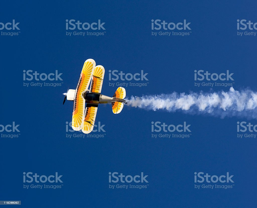 Acrobatic Plane in Flight royalty-free stock photo