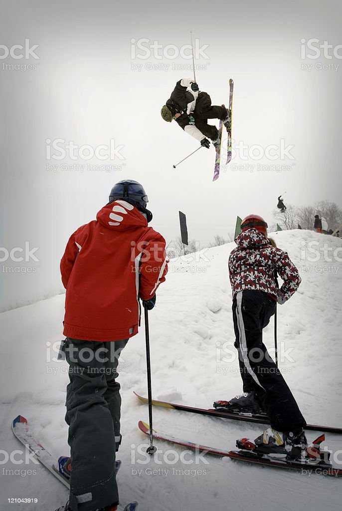 Acrobatic ski competition royalty-free stock photo