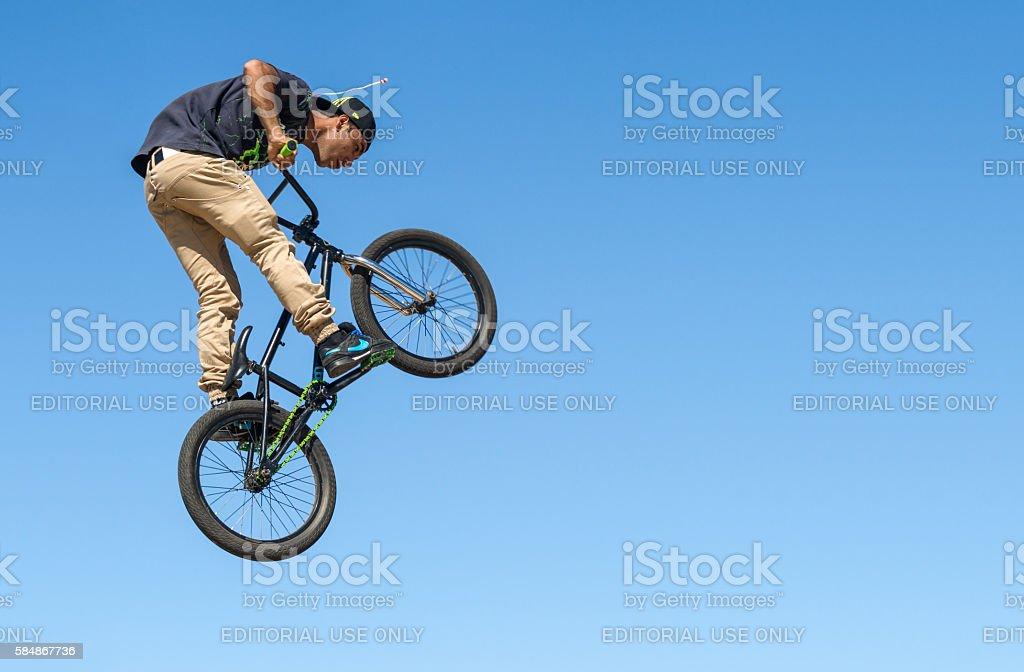 BMX Acrobatics stock photo