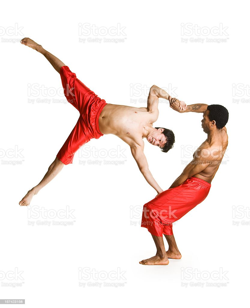 Acrobats stock photo