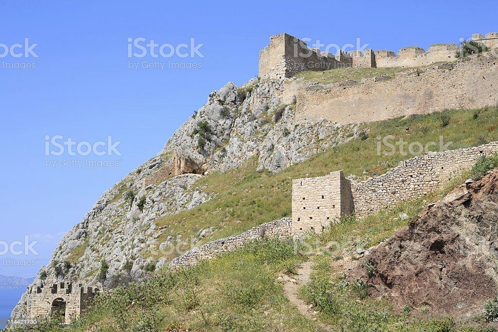 Acrocorinth stock photo