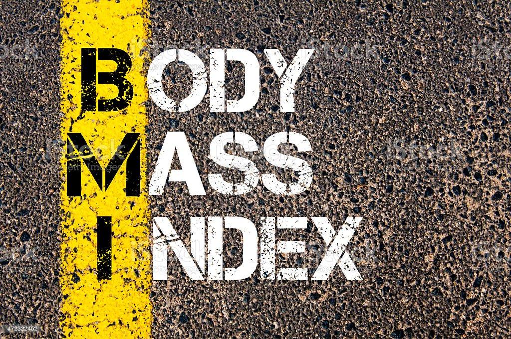 Acronym BMI - Body Mass Index stock photo