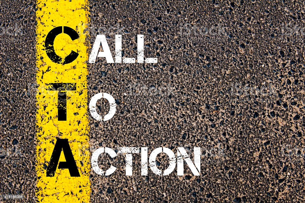 Acronym CTA as Call To Action stock photo