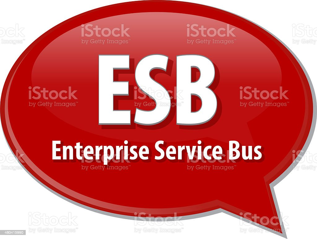 ESB acronym definition speech bubble illustration stock photo