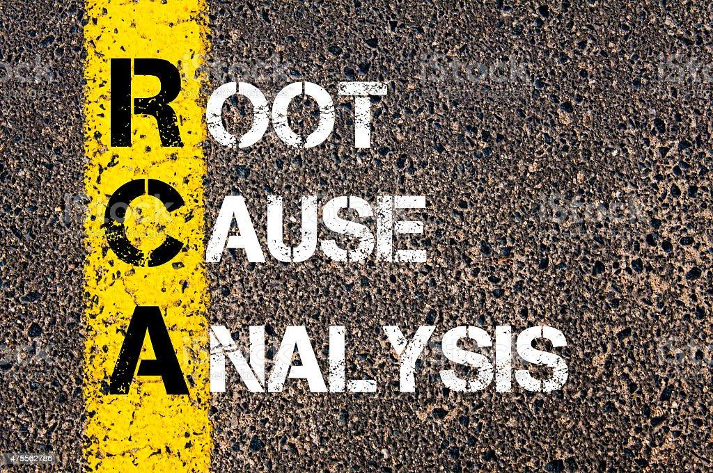 Acronym RCA - Root Cause Analysis stock photo