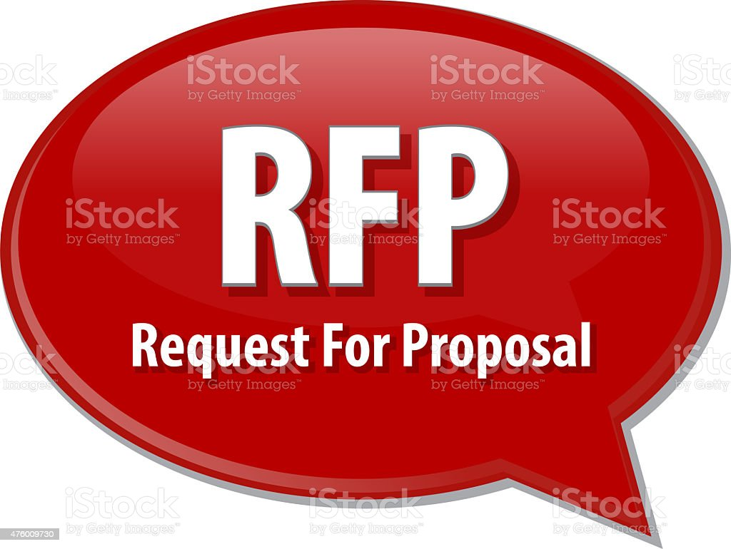 RFP acronym word speech bubble illustration stock photo
